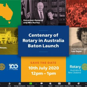 Register Now:  July 10th, 2020 – our official Centenary Launch
