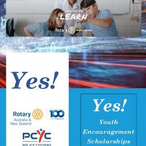 YES!  Rotary/PCYC Youth Encouragement Scholarships