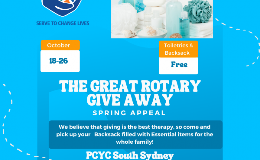 The Great Rotary Give-Away, Spring Appeal is on!